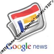 Balise META name keywords news de Google